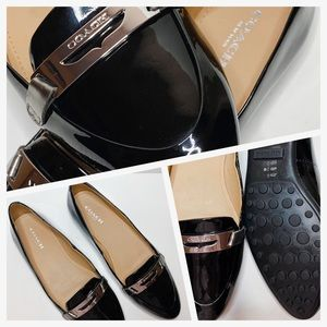 COACH Patent Leather Ruthie Loafers Size 5.5🖤